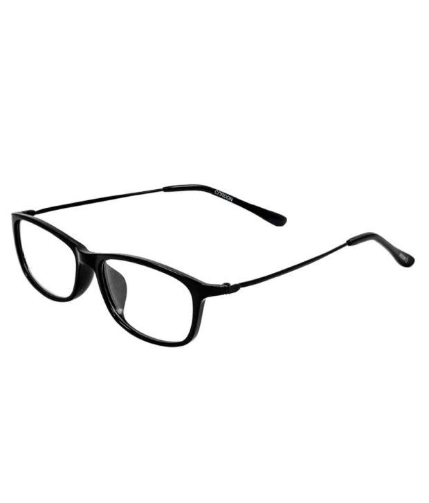 Cardon Black Rectangle Full Rim Eyeglasses Frame