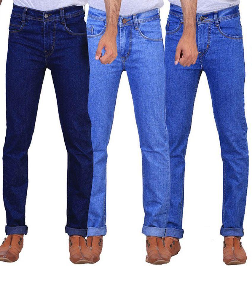 Ne Blue Slim Fit Jeans - Pack Of 3