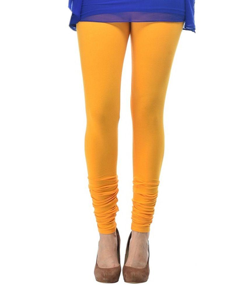 cac1b9ceb9 Comfort Lady Yellow Cotton Leggings Price in India - Buy Comfort ...