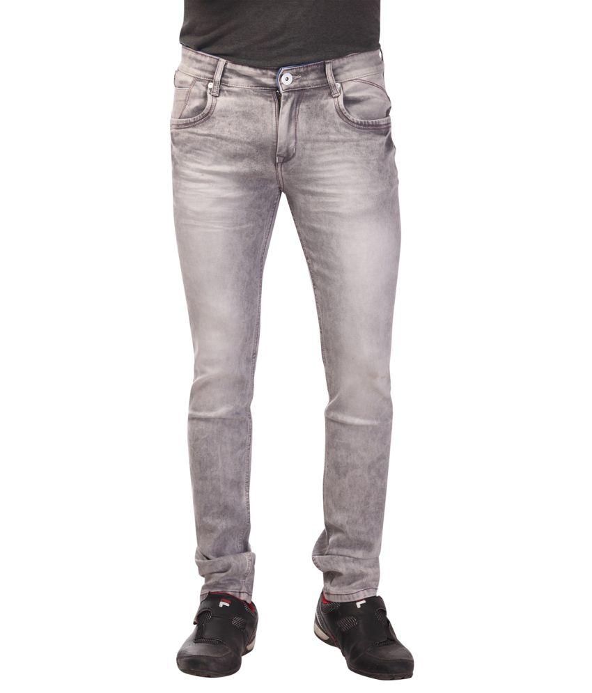 Katzan Jeans Grey Slim Fit Jeans