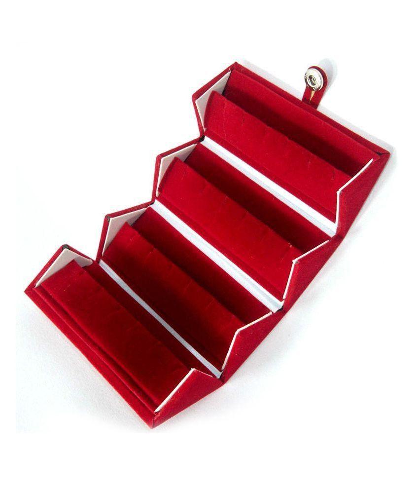 Ambica Velvet 12 Pair Earrings Foldable Box