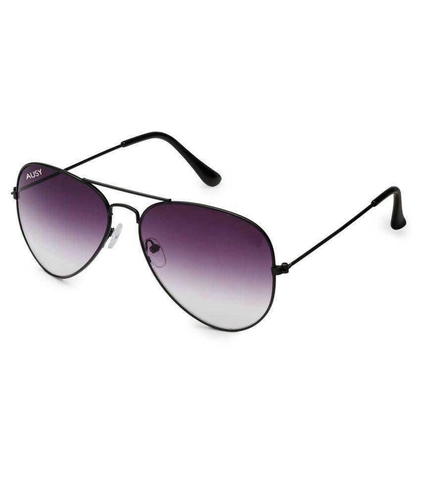 Ausy Voilet Lens Aviator Sunglasses For Men And Women