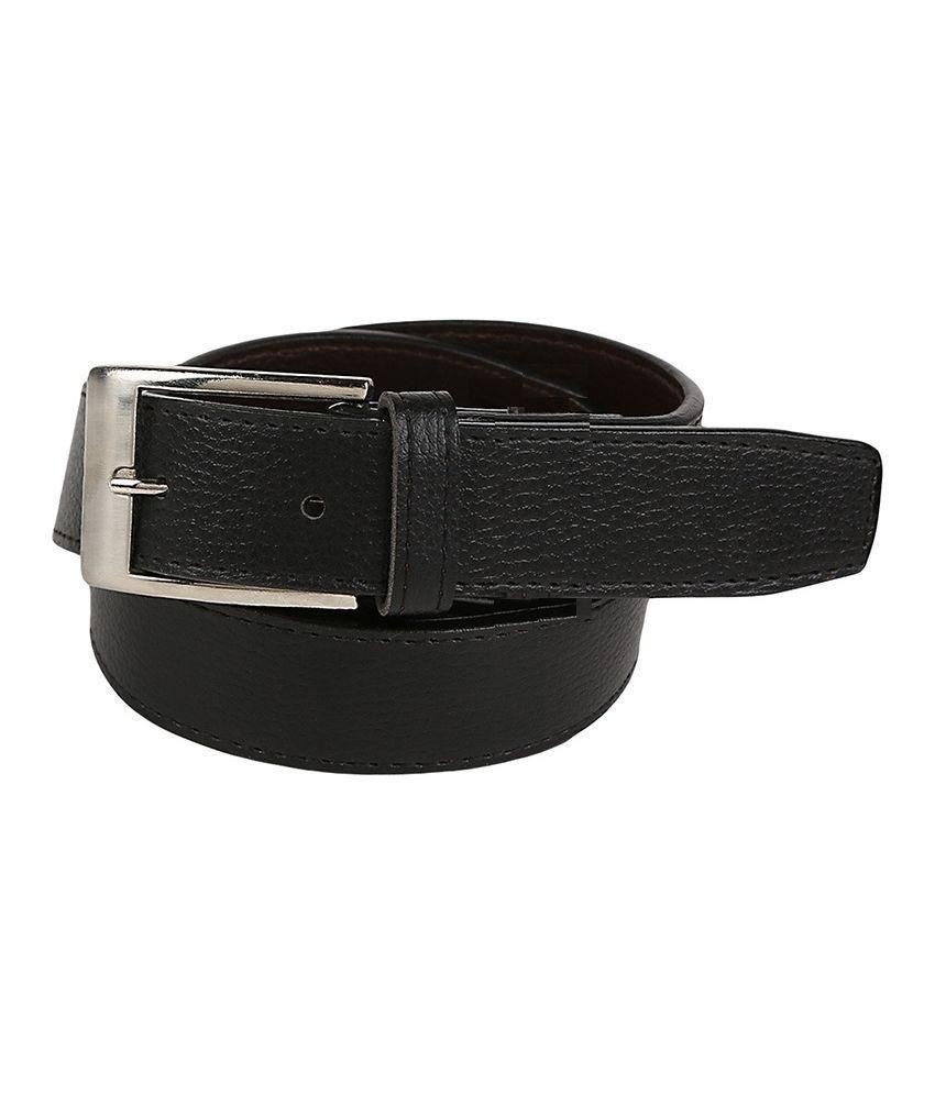 Moodlay Black Pin Buckle Belt for Men