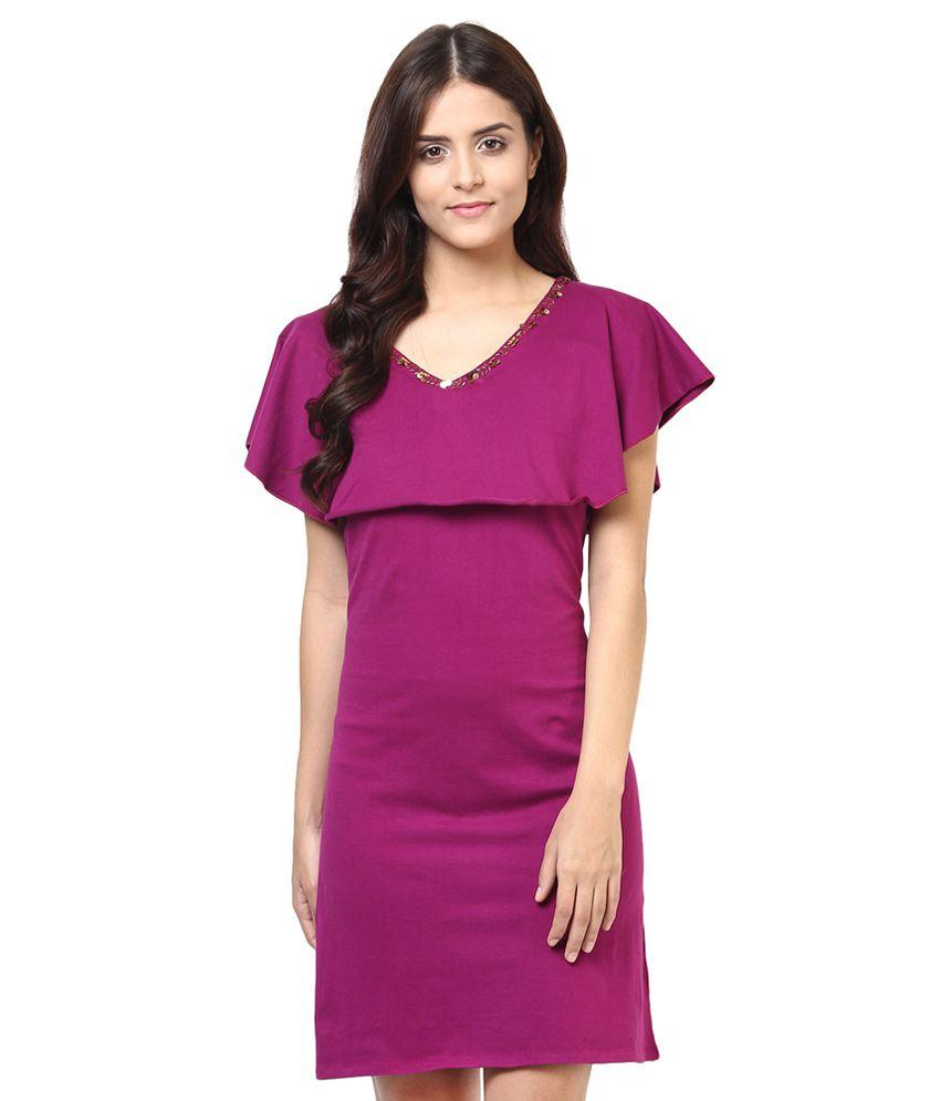 Shakumbhari Purple Hosiery Tunic