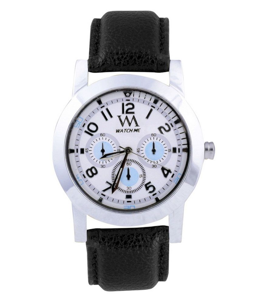 Watch Me Watch Me Black Analog Watch For Men
