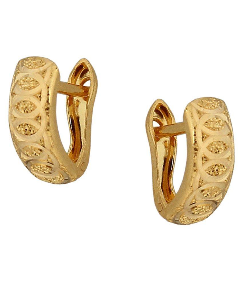 Nidhi Creations 22kt Gold Huggie Tops