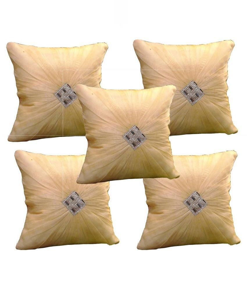 Wrap Beige Blanded Cushion Cover - Set of 5