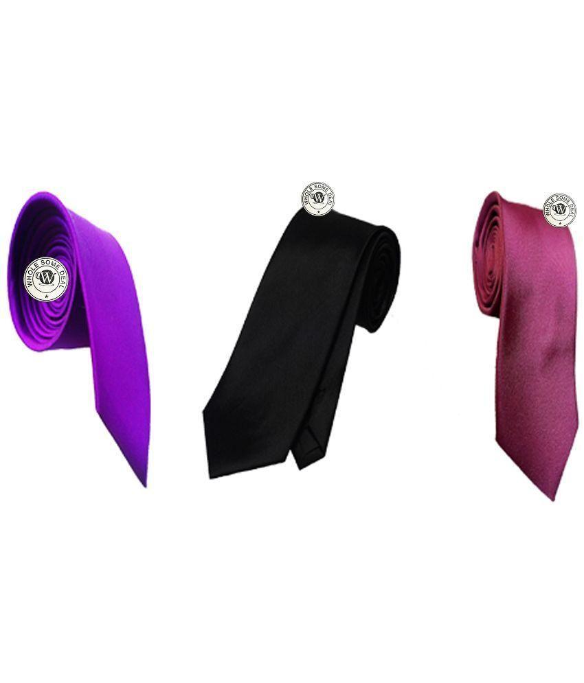 Wholesome Deal Multicolor Narrow Tie - Set of 3