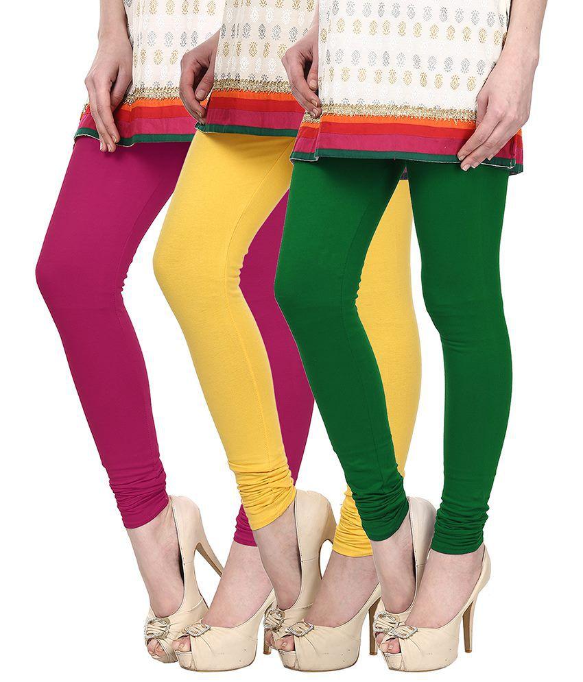 Skyline Trading Multi Color Cotton Leggings