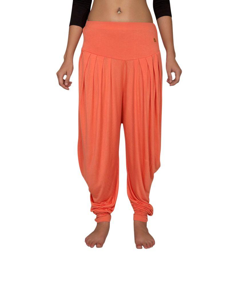 Foreveryoga Melon Viscose Spandex Harem Pant - Orange