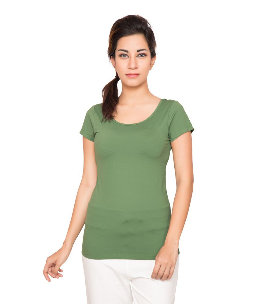 Foreveryoga Olive Performance Cap Sleeve Tee - Green