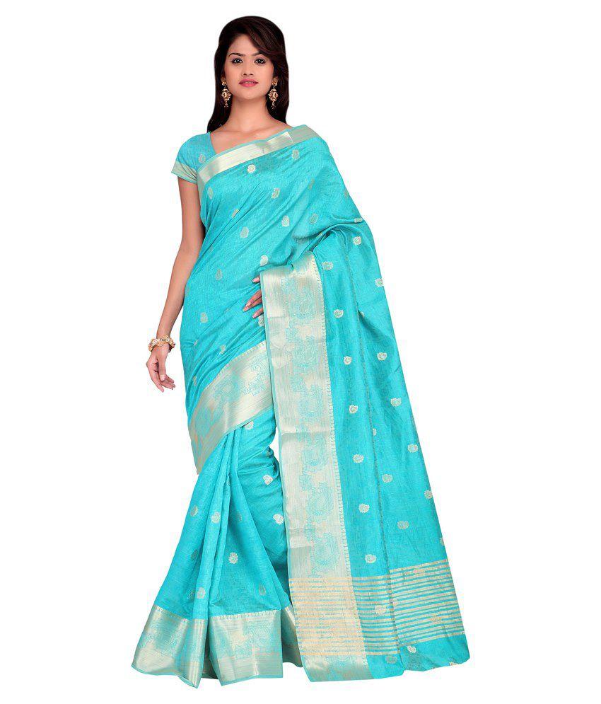 Shonaya Blue Silk Saree