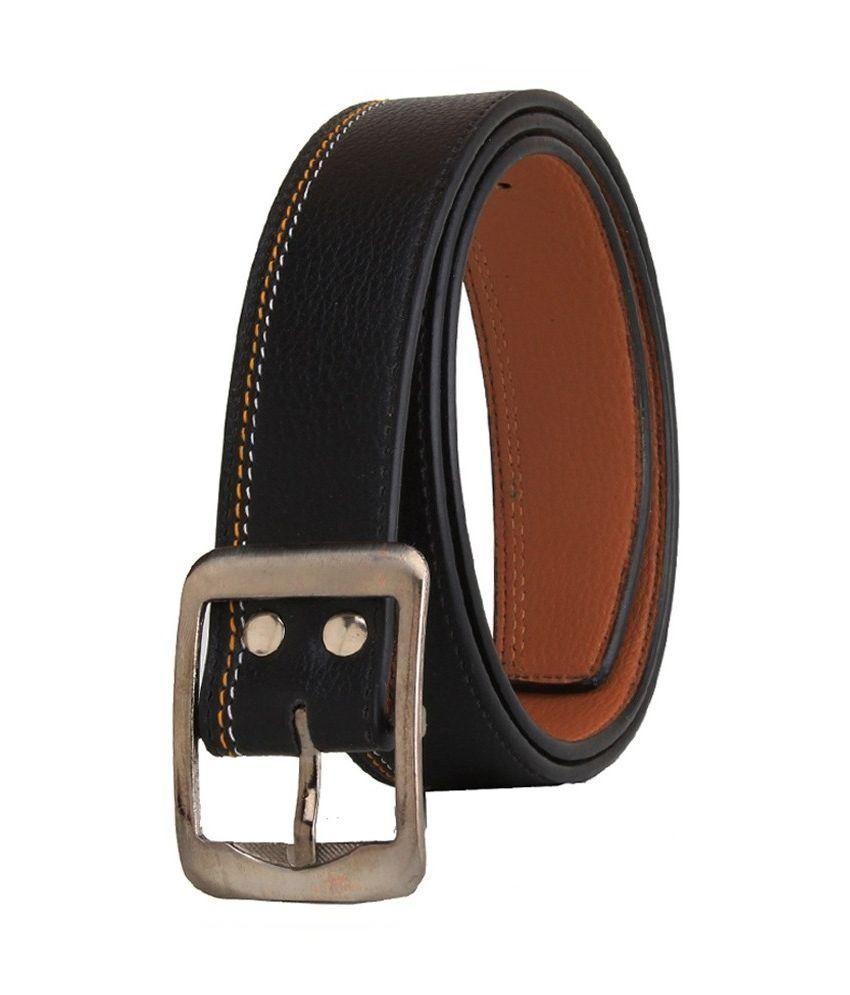 Daller Black Leather Casual Belt