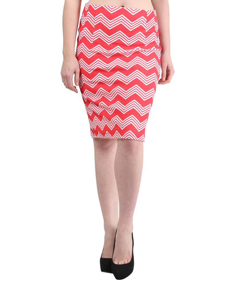 d251363e6f9e Mayra Red Poly Cotton Bodycon Skirts available at SnapDeal for Rs.478