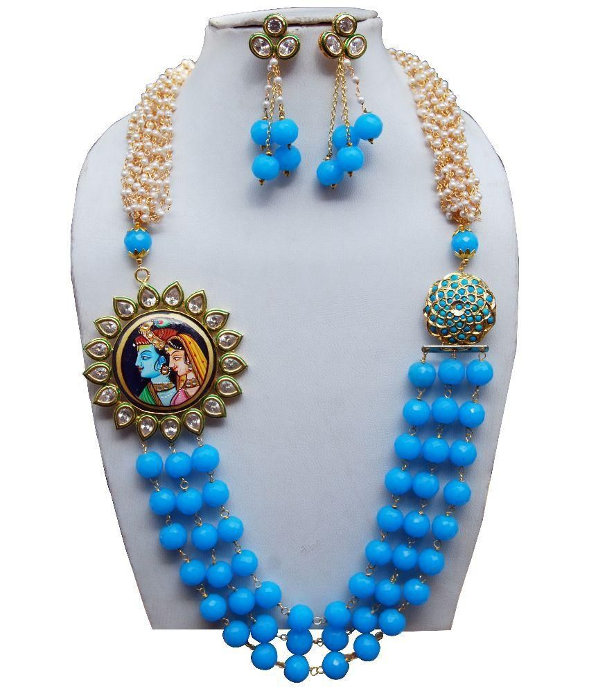 Bagru Crafts Multicolor Pearl Necklace Set