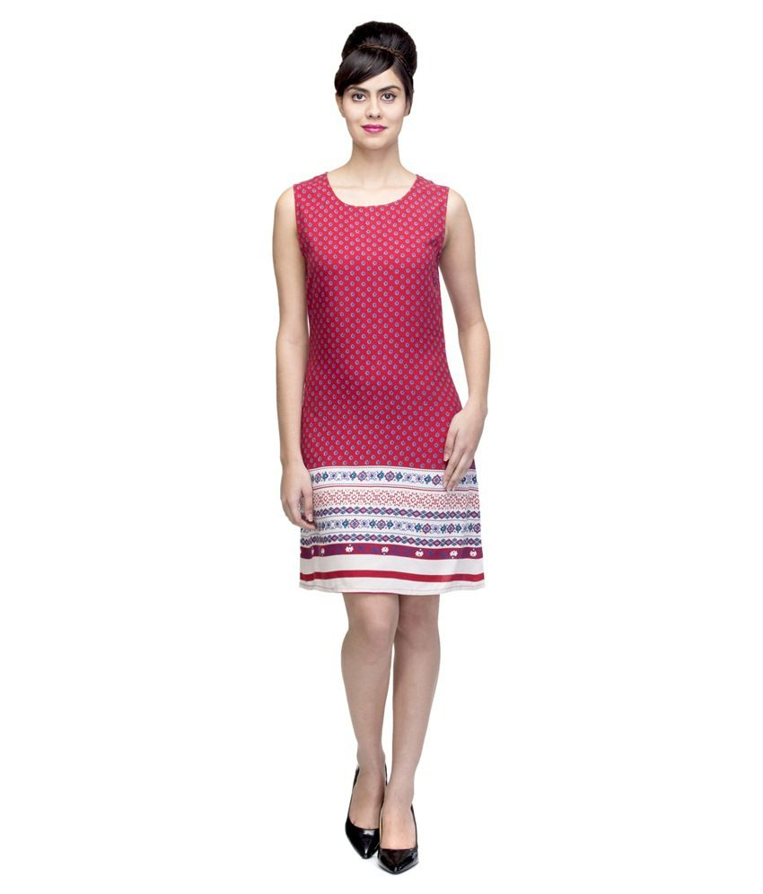 Wisstler Multi Color Rayon Dresses