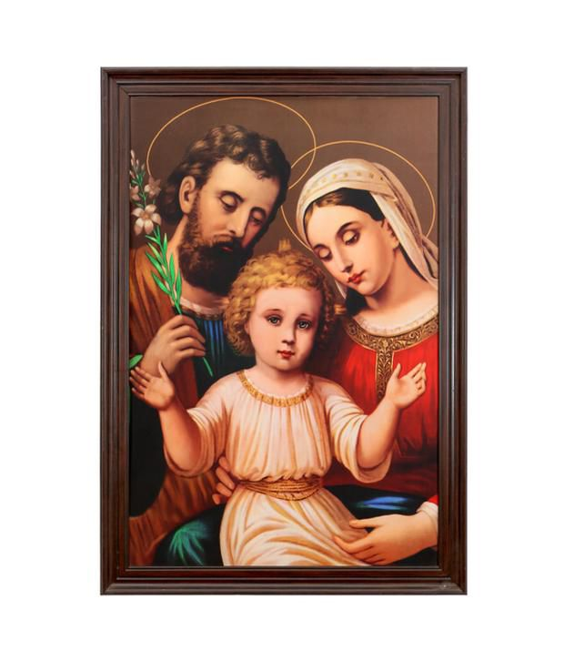 Elegant Arts And Frames Textured Holy Family Painting