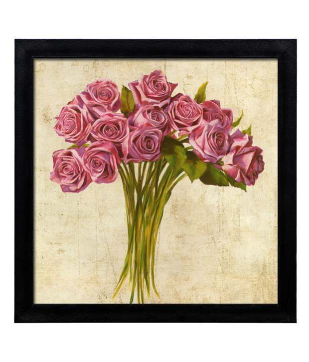 Elegant Arts And Frames Textured Bouquet De Roses Painting