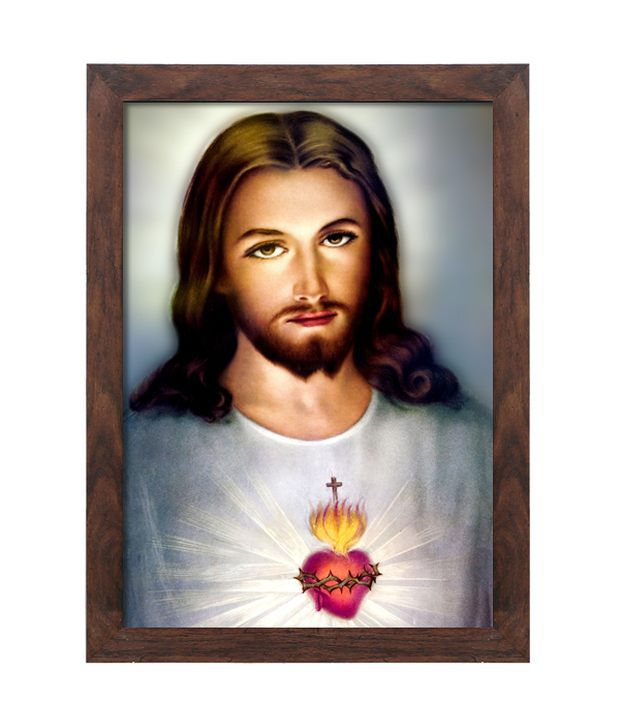 Elegant Arts And Frames Textured Merciful Jesus Christ Painting