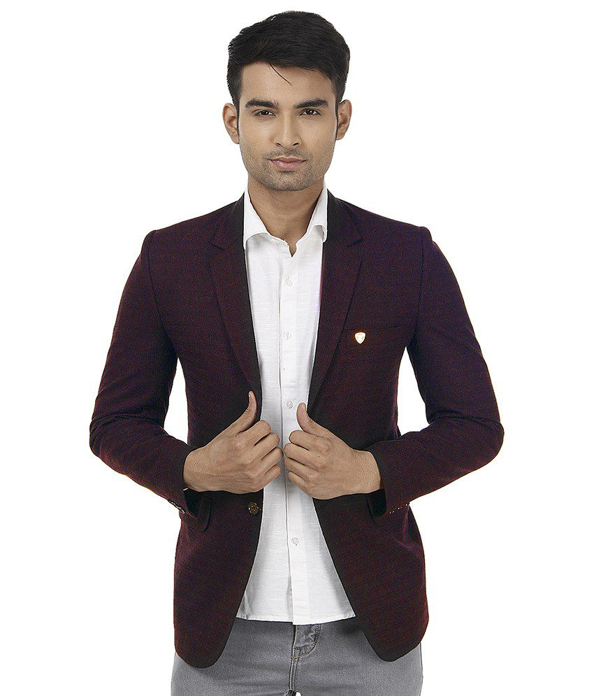 Platinum Studio Maroon Party Blazers