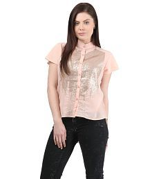 Mayra Peachpuff Poly Georgette Shirts