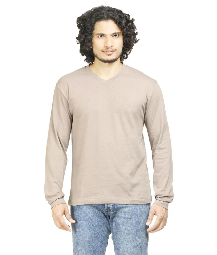 Oviyon Grey Cotton T-shirt