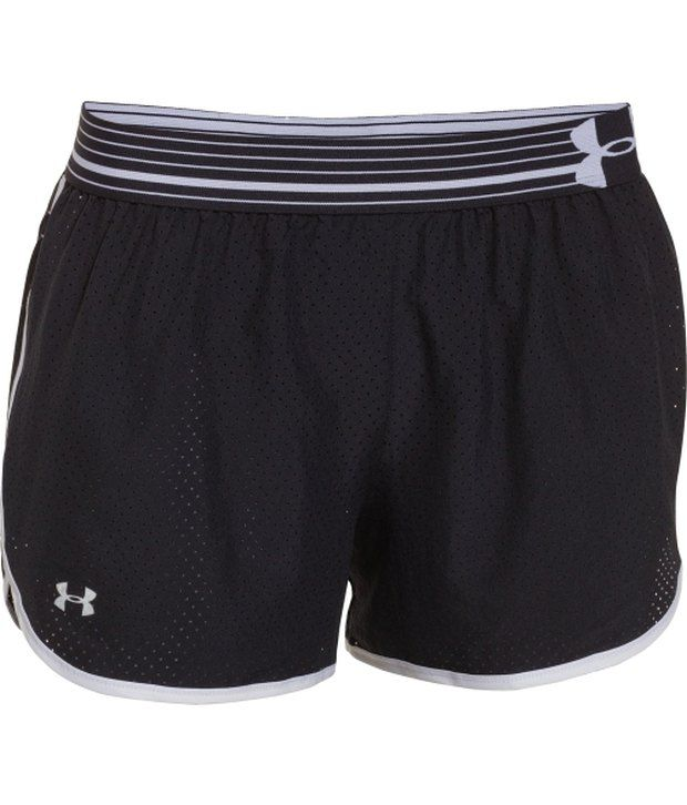 Under Armour Under Armour Black And Red Women's Perfect Pace Running Shorts