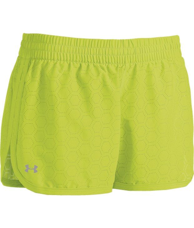 Under Armour Under Armour Green Womens Perforated Great Escape Ii Shorts