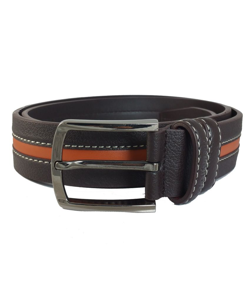 Ammvi Creations Brown Leather Belt For Men