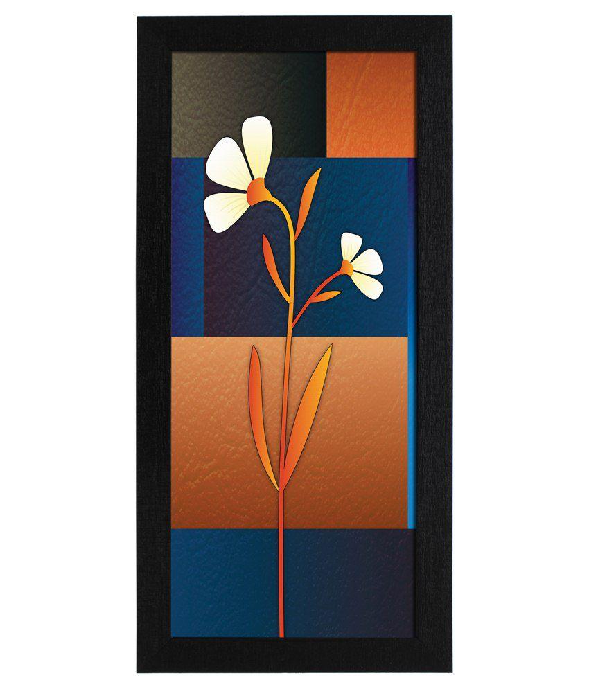 Delight Wooden Alstroemeria Flower Digital Printed Uv Photo Frame