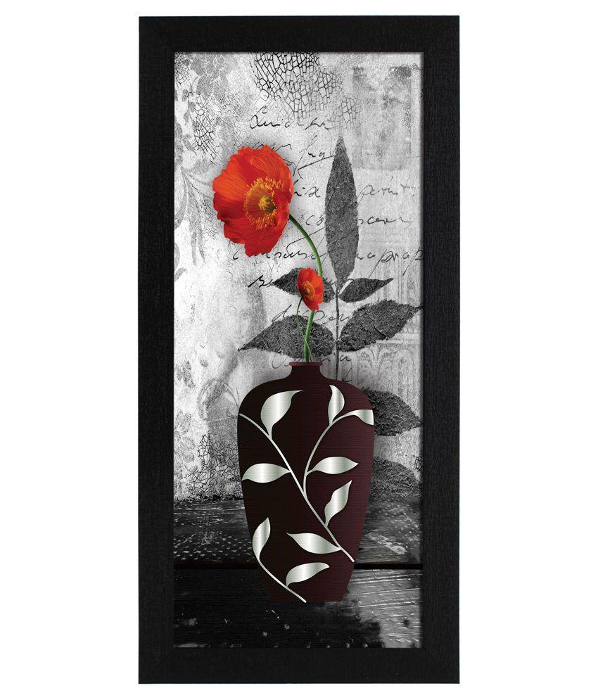 Delight Wooden Orange Zinnia Digital Printed Uv Photo Frame