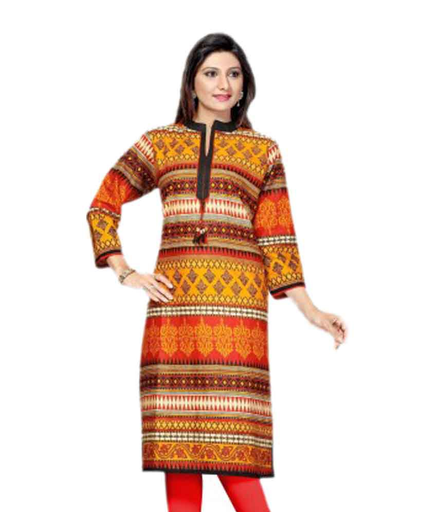 Le Moda Multi Color Cotton Kurti