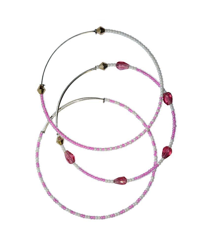 Tash Creations Pink Stainless Steel Bangle Set