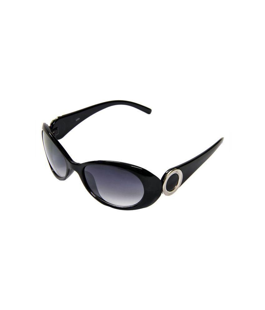 Adine Black Frame Plastic Oval Shape Sunglasses