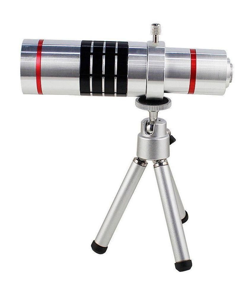 Mobilegear 18X Optical Zoom Telescope Mobile Camera Lens Kit with Back Cover & Tripod for Samsung Galaxy S6
