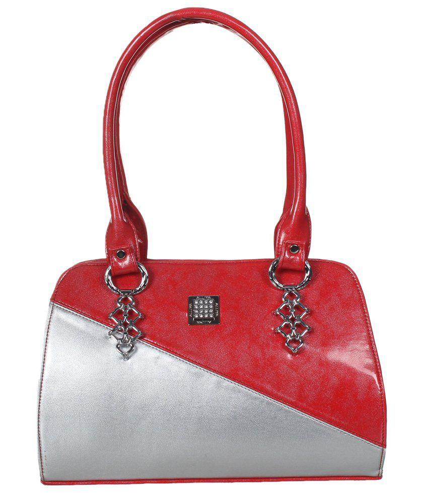 Alibao Red P.U. Shoulder Bags