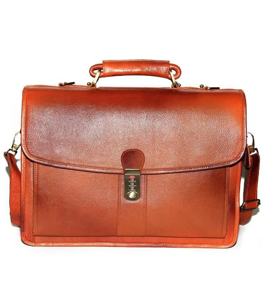 Bag Jack Tan Leather Laptop Compatibility Office Bag