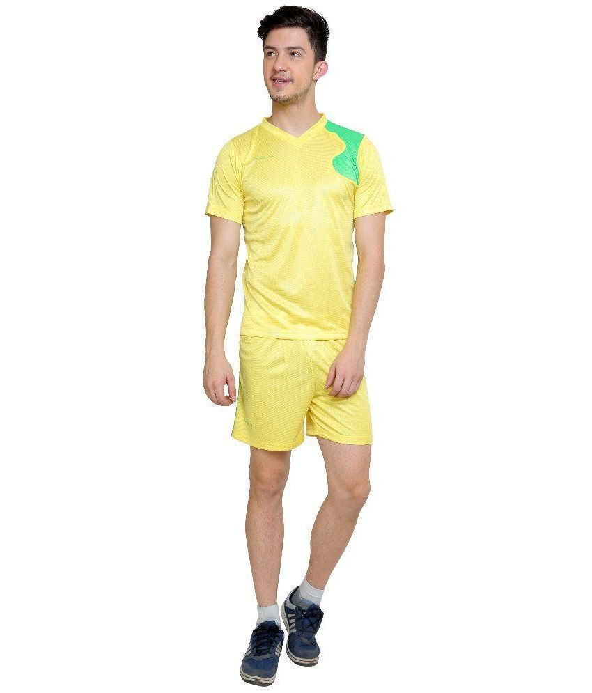 Dida Yellow Polyester Sports Wear Set