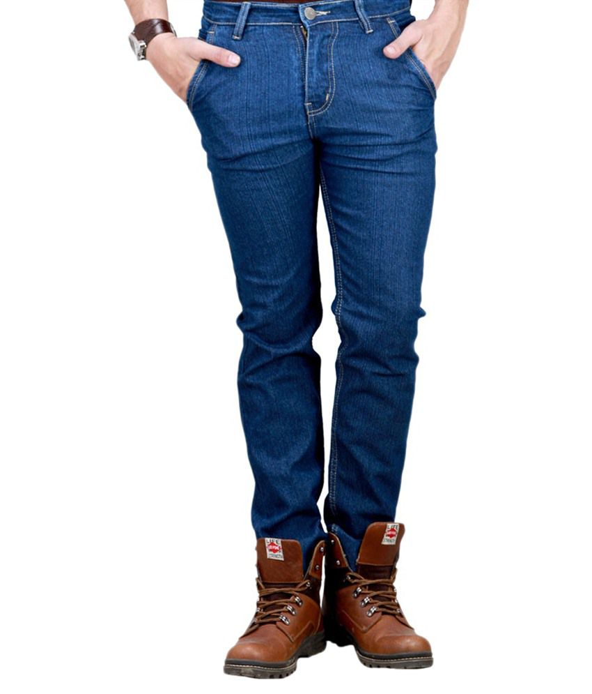 Fitland Blue Regular Fit Jeans