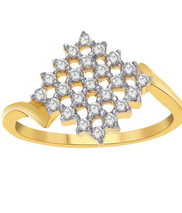 Pooja & Sonam 925 Pure Silver Cz Diamond Ring
