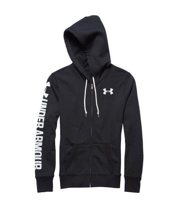 Under Armour Black Women's Favourite Fleece Full Zip Hoodie