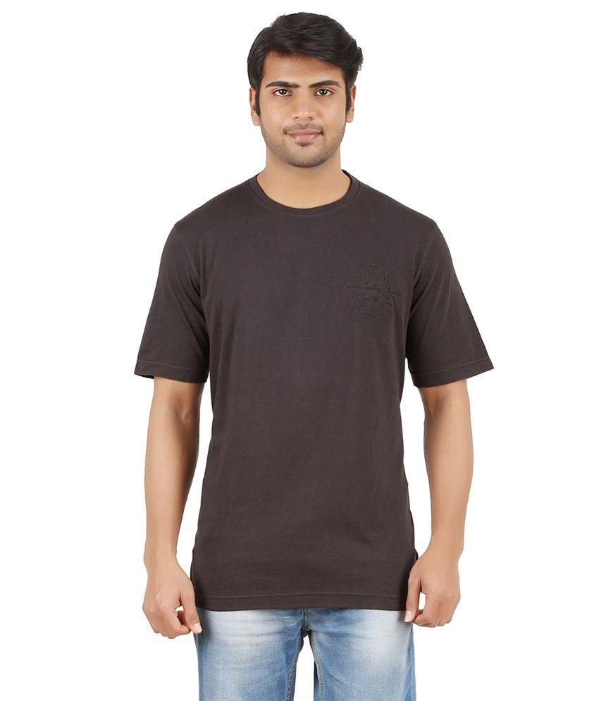 Furore Brown Cotton T-shirt