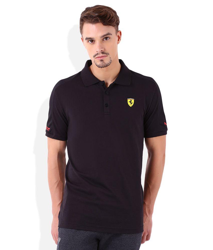 Puma Fearrari Black Polo T-Shirt