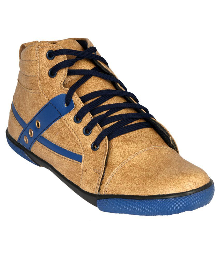 Vittaly Tan & Blue Boots