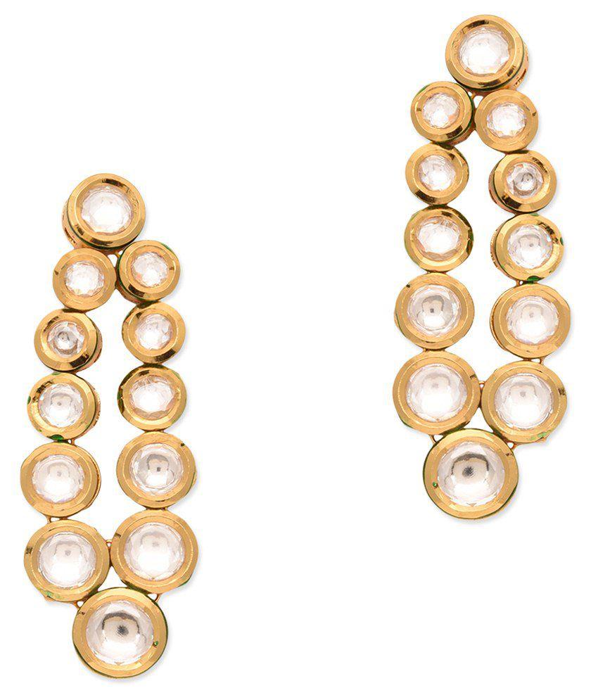 Bgs Golden Alloy Drop Earrings