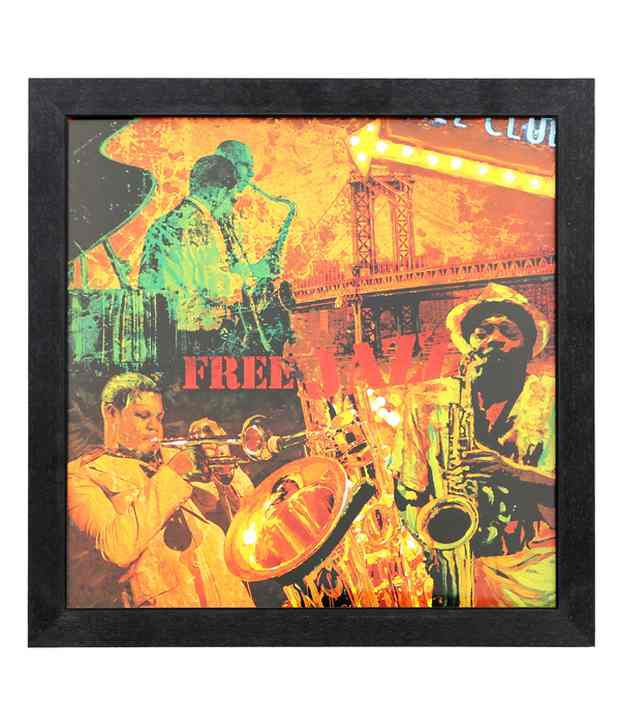 Elegant Arts And Frames Textured Free Jazz Painting