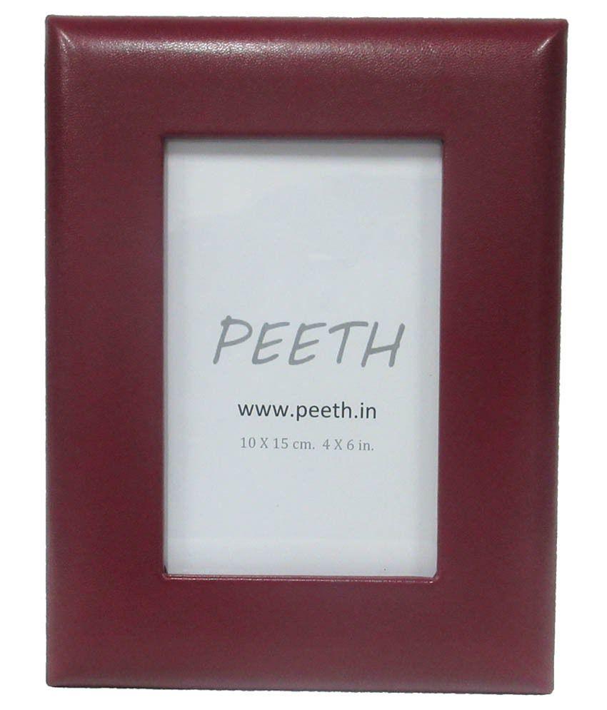 Peeth Brown Leather Photo Frame