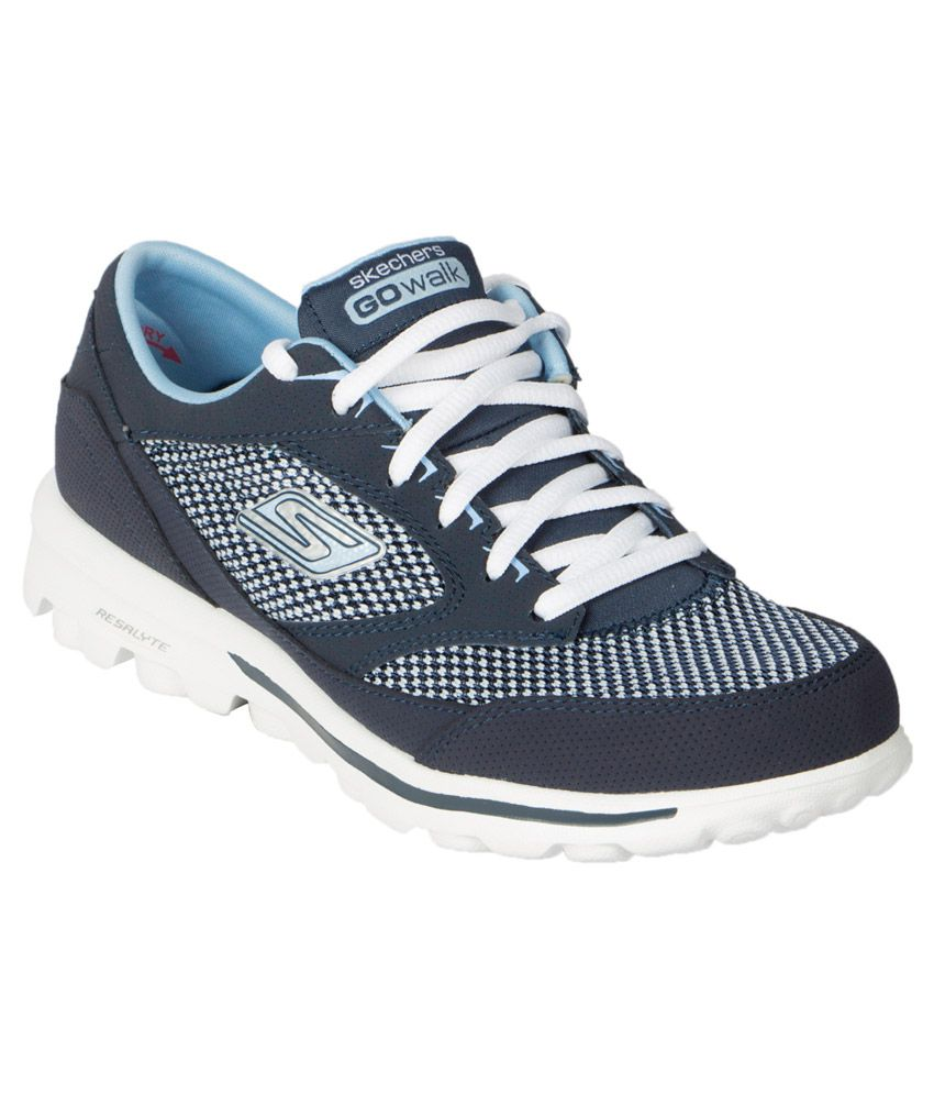 bd7ca8df357 Skechers Go Walk Verve Navy Sports Shoes Price in India- Buy Skechers Go  Walk Verve Navy Sports Shoes Online at Snapdeal