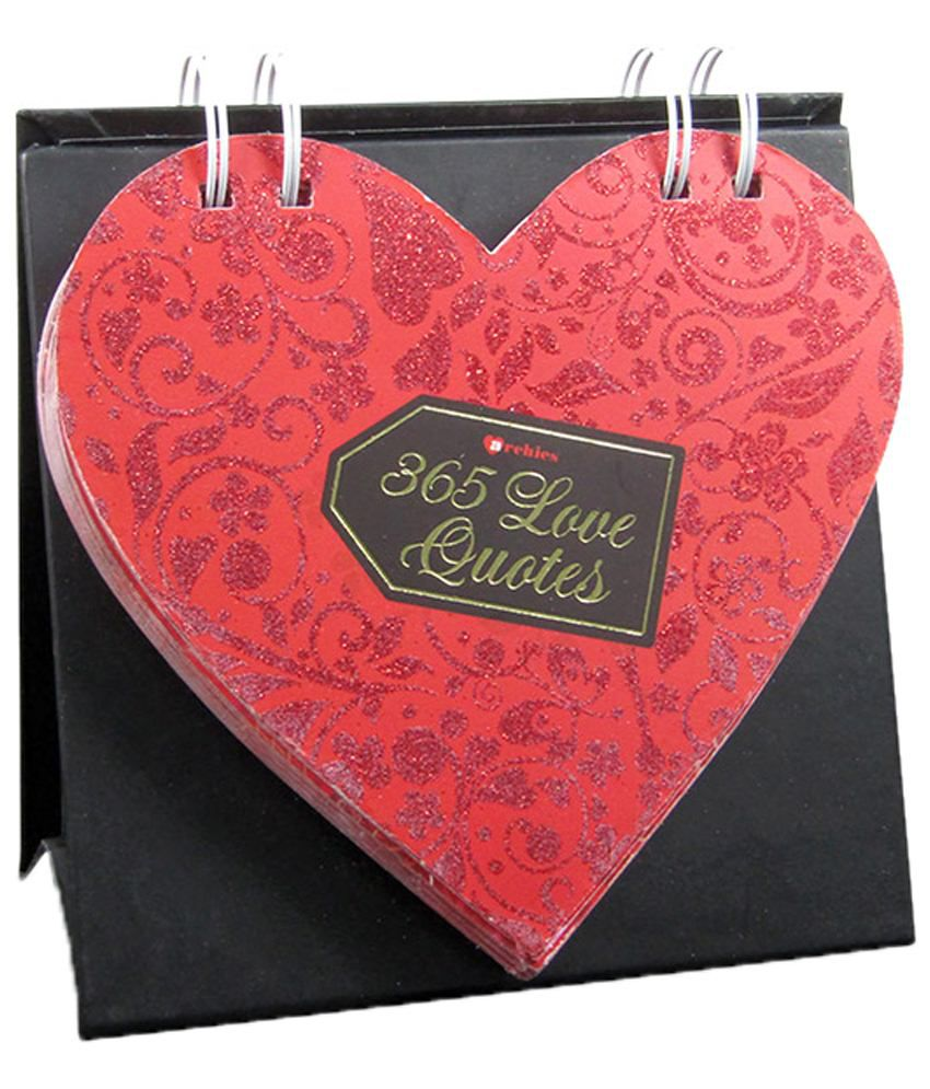 Archies Limited Red & Black 365 Love Quotes Desk Calendar