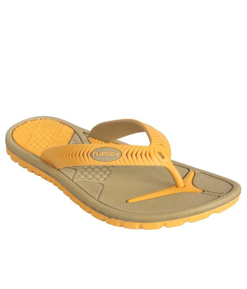Flipside Womens Scuba Yellow Flipflops